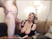 Busty mature mommy loves sucking dick and fucking