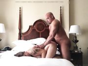BBW hardcore sex at home with bald guy