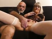 Total vamp granny sucking and fornicating on camera and swallowing sperm